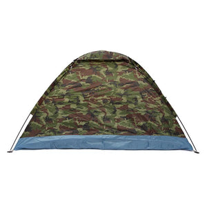 Outdoor Oxford cloth PU waterproof coating 4 seasons 2 people single layer Camouflage camping hiking tent