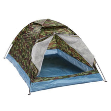 Load image into Gallery viewer, Outdoor Oxford cloth PU waterproof coating 4 seasons 2 people single layer Camouflage camping hiking tent