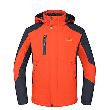 Men's Hiking Jacket-Hiking 3-in-1 Jackets Outdoor Autumn-Fall-Winter Windproof,Waterproof,Thermal-Warm Winter Jacket-Top Skiing,Camping-Hiking, Hunting