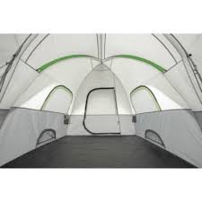 Ozark Trail 16' x 8' Modified Dome Tunnel Tent,With Unique Shape Creates Separate Living,Sleeping and Storage Spaces,Large Mesh Panels,Tent Stakes and Carry Bag Included,Sleeps 8,Gray/Green>>