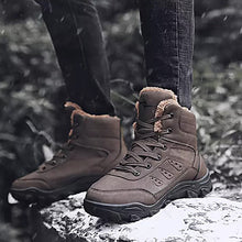 Load image into Gallery viewer, Men's Snow Boots Leather / PU(Polyurethane) Winter Casual Boots Non-slipping Mid-Calf Boots/ Camel