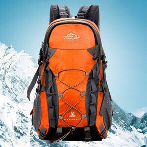 LOCAL LION Outdoor Waterproof Hiking Backpack 40L,Ventilated Women Men Camping Travel Bag ,Molle Trekking Climbing Bag Rucksack