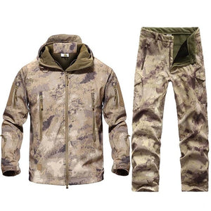 New Men Tactical Military Uniform Clothing Waterproof Army Combat Uniform Tactical Pants Men's Camouflage Hunt Clothes