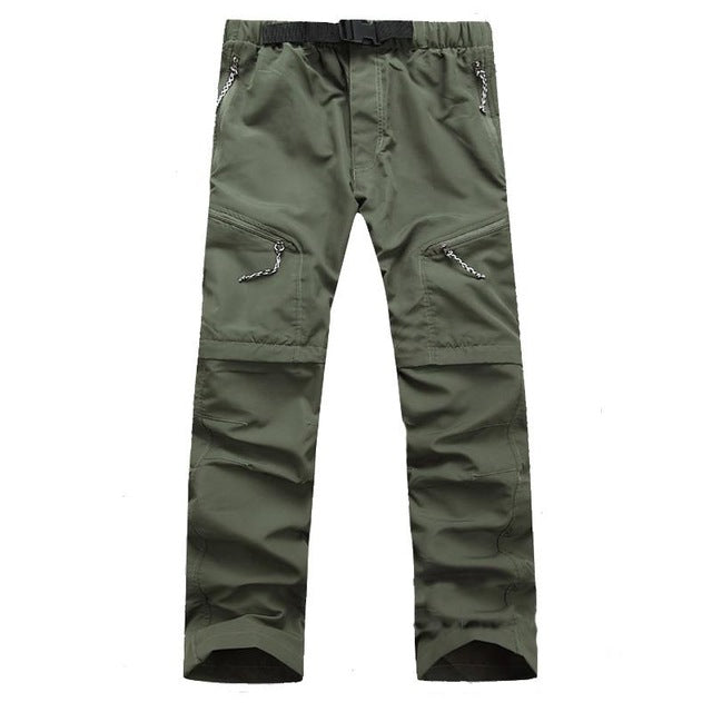 Men's Hiking Pants Convertible Pants Outdoor Fast Dry Quick Dry Breathability Pants / Trousers Hiking Climbing Outdoor Exercise Army Green Grey Khaki