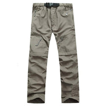 Load image into Gallery viewer, Men's Hiking Pants Convertible Pants Outdoor Fast Dry Quick Dry Breathability Pants / Trousers Hiking Climbing Outdoor Exercise Army Green Grey Khaki