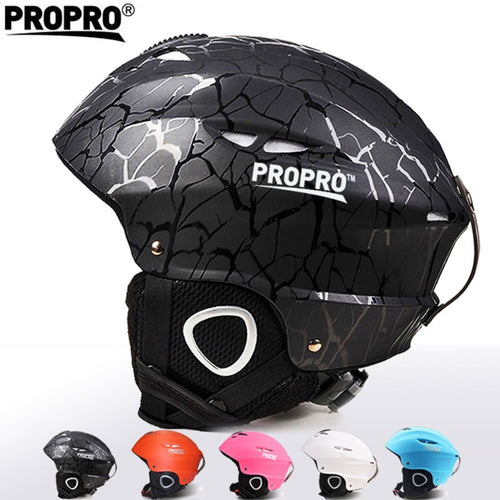 PROPRO Ski Helmets Integrally-molded Snowboard Skiing Helmet Adult Skating Skateboard Tactical Helmet with Goggles Sport Safety