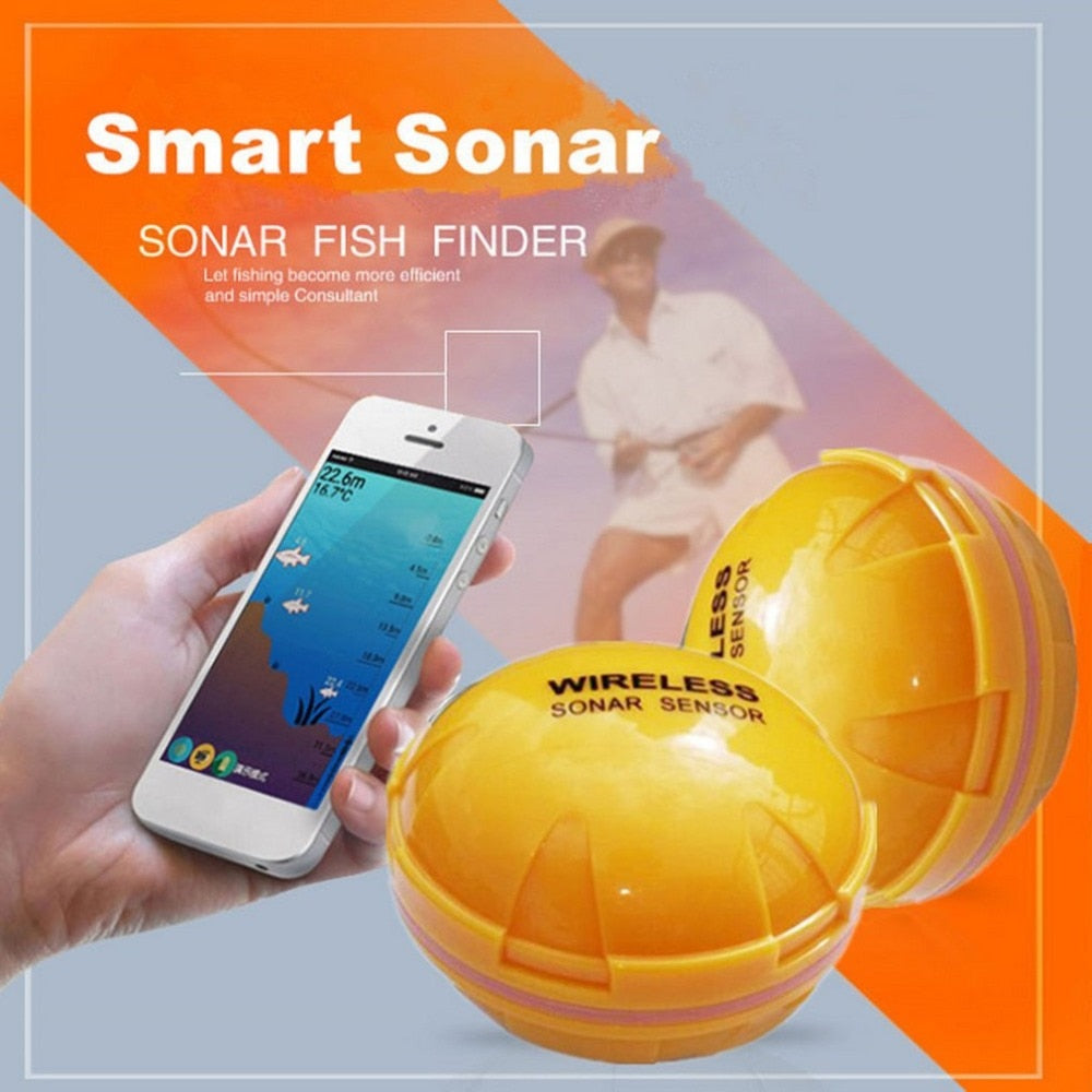 Mobile Phone APP Fish Finder Portable Sonar Fish Finder, Bluetooth for Sea,Lake