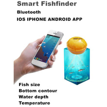 Load image into Gallery viewer, Mobile Phone APP Fish Finder Portable Sonar Fish Finder, Bluetooth for Sea,Lake