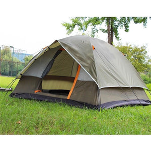 3-4 Person Windbreak Camping Tent Dual Layer Waterproof Open Anti UV Tourist Tents For Outdoor Hiking Beach Travel