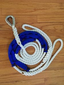 "5/8"" X 10' Three Strand Double Mooring Pendant 100% Nylon Rope with Stainless Steel Thimble.  and 2 Chafe Guard (Tensile Strength 10400 Lbs.) Made in USA. FREE EXPEDITED SHIPPING - dbRopes"