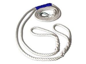 "5/8"" X 15' Three Strand Double Mooring Pendant 100% Nylon Rope with Stainless Steel Thimble (TS 10400 Lbs.) Made in USA. - dbRopes"