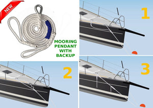 "1/2"" x 12' DriftProof Mooring Pendant with Backup Line. 3 Strand 100% Nylon rope with Thimble.  Made in USA  *****LAUNCH OFFER***** - dbRopes"