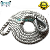 3 Strand Mooring Pendant 100% Nylon Rope Premium with Heavy Duty Galvanized Thimble.         (Select size before add to cart)