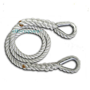 "1/2"" X 6' Three Strand Mooring Pendant 100% Nylon Rope with 2 Galvanized or SS  Thimbles. Made in USA. - dbRopes"