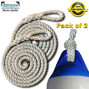 "Fender Whips 100% Nylon Rope 1/2"" X 3' - Pack of 2 - dbRopes"