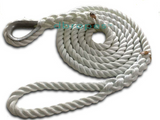 "3/4"" X 15' Three Strand Mooring Pendant 100% Nylon Rope with Thimble. (Tensile Strength 13800 Lbs.) Made in USA. FREE EXPEDITED SHIPPING - dbRopes"