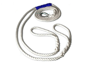 "5/8"" X 12' Three Strand Double Mooring Pendant 100% Nylon Rope with Stainless Steel Thimble (Tensile Strength 10400 Lbs.) Made in USA. - dbRopes"