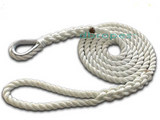 "DBROPES 5/8"" x 6'  3 Strand Mooring Pendant Line 100% Nylon High Quality Rope with Stainless Steel Thimble. Made in USA . - dbRopes"