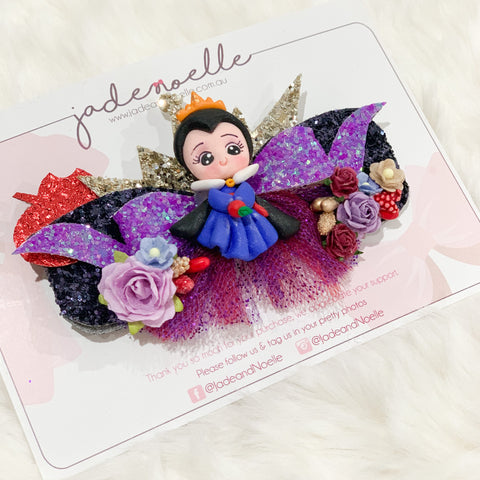 Evil Queen Snow White Clay Bow