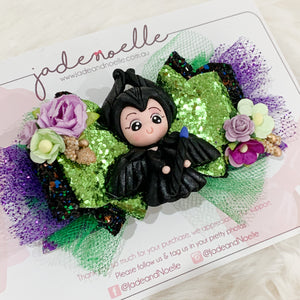Maleficent Clay Bow