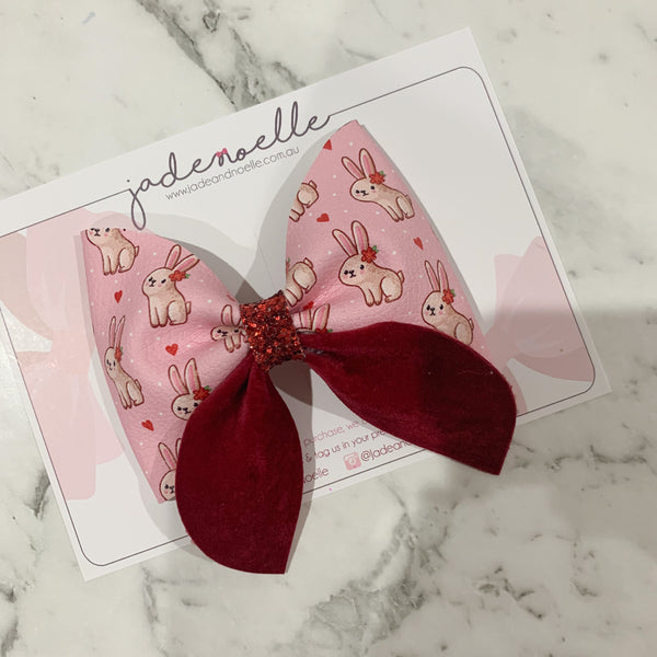 Pink Bunny - Sailor Bow