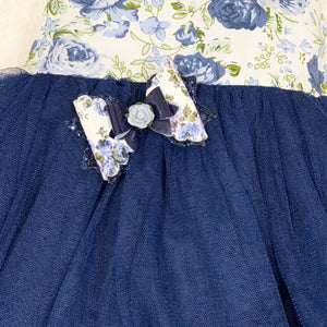 Savannah Blue Vintage Flower Bow
