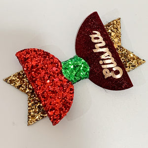 Christmas Name bow