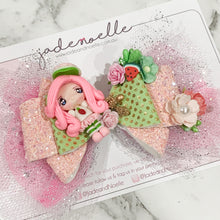 Load image into Gallery viewer, Strawberries Shortcake Clay Bow
