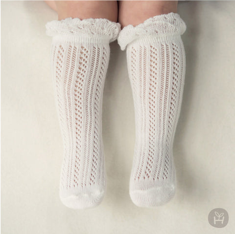Jane's Ruffles Socks - WHITE