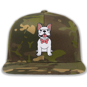 Dog wearing Bowtie - Custom Embroidered Camo Hat