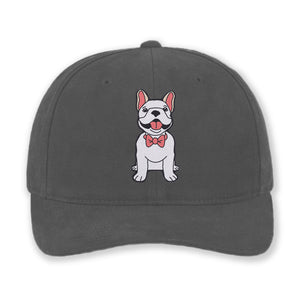 Dog Wearing Bowtie - Custom Embroidered Cotton Hat