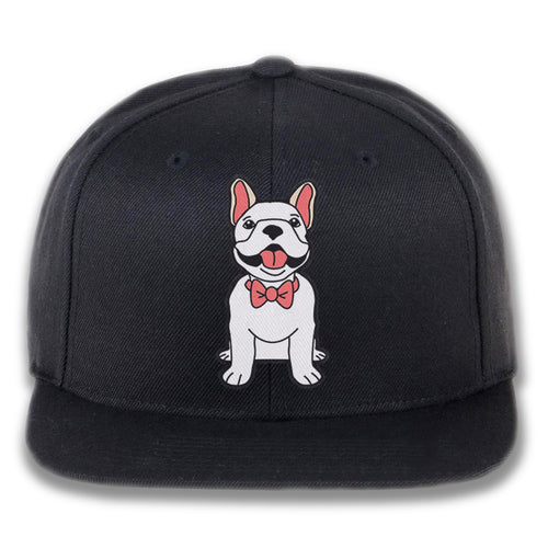 Embroidered Dog wearing Bowtie Snapback Hat