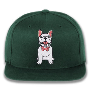 Dog wearing Bowtie - Custom Embroidered Snapback Hat
