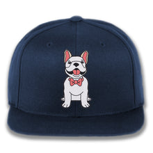 Load image into Gallery viewer, Dog wearing Bowtie - Custom Embroidered Snapback Hat