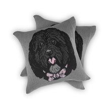 Load image into Gallery viewer, Dog Face - Custom Knitted Pillow
