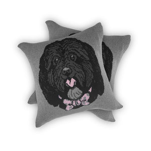 Dog Face - Custom Knitted Pillow