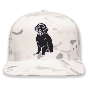 Embroidered Camo Plain Dog Hat