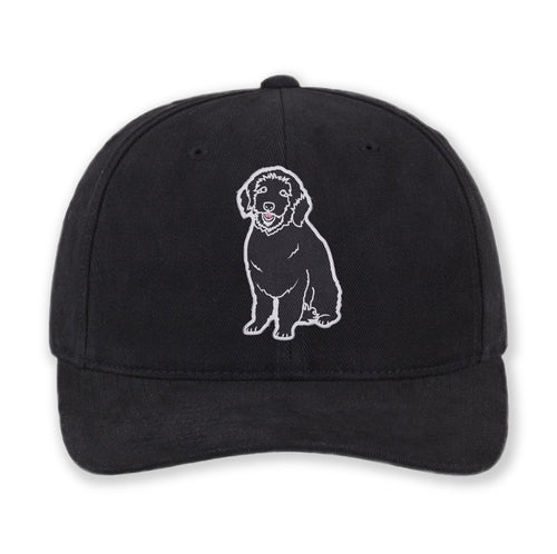 Embroidered Plain Dog Cotton Hat