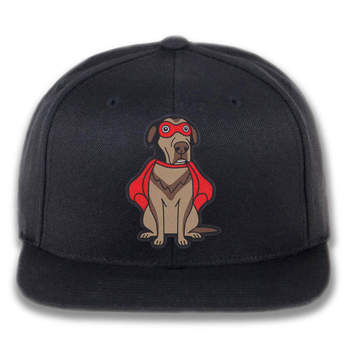 Embroidered Super Dog Snapback Hat