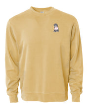 Load image into Gallery viewer, Dog Wearing Sweater- Custom Embroidered Acid Wash Pullover