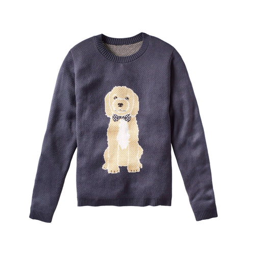 Dog With Bow Tie - Custom Knitted Sweater