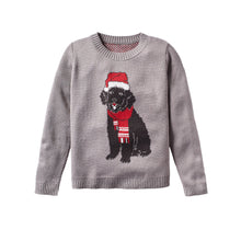 Load image into Gallery viewer, Custom Knitted Dog With Santa Hat And Scarf Sweater
