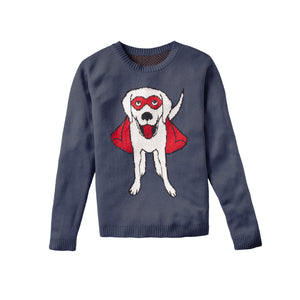 Super Dog - Custom Knitted Sweater