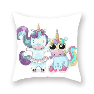 Unicorn throw pillow case