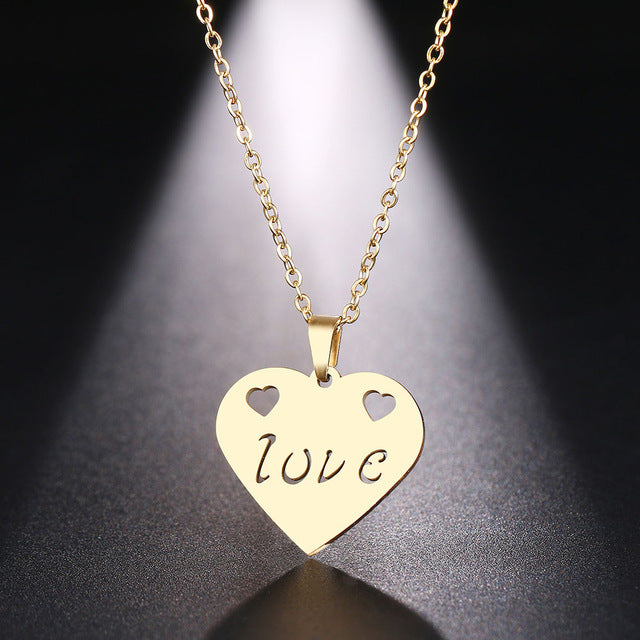 Fall in love Gold and Silver Necklace