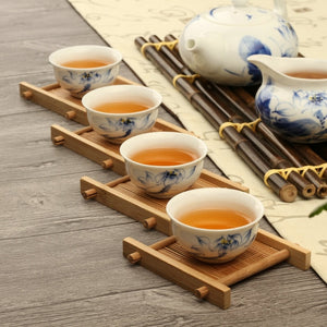Solid Wood Tea Tray Drainage Cup Teapot Mat Gongfu Tea Table Serving Plate Tea Trays Teaware4