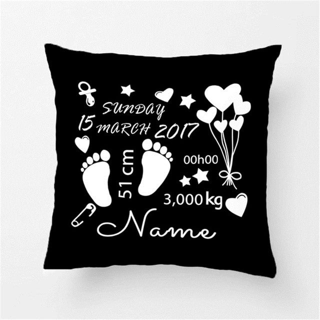Customized Throw Pillow Cushion Cover For A New Born