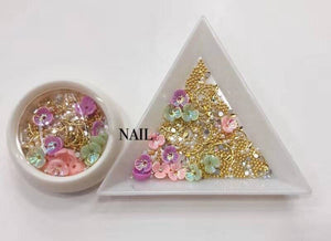nail art shell flower jewelry