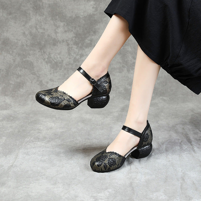 Summer Women Shoes Genuine Leather Women Pumps
