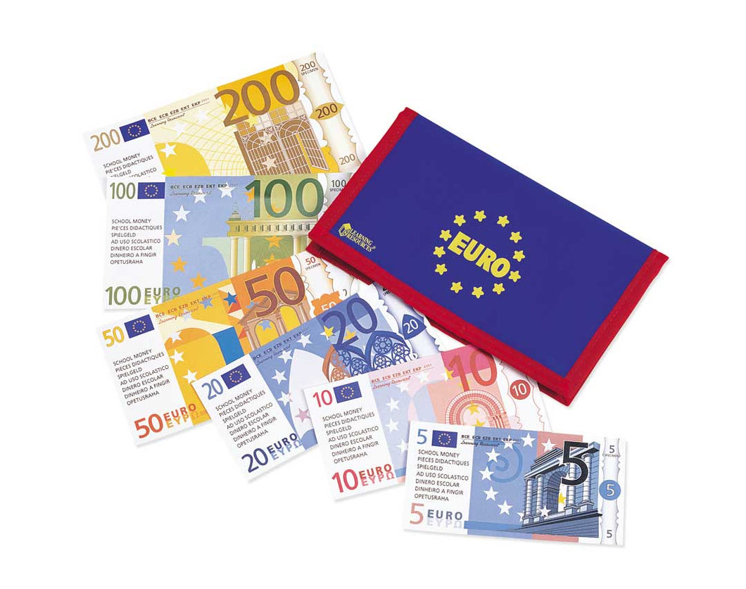 Euro Money Wallet with Notes